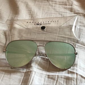 Quay X Desi Perkins High Key aviator sunglasses